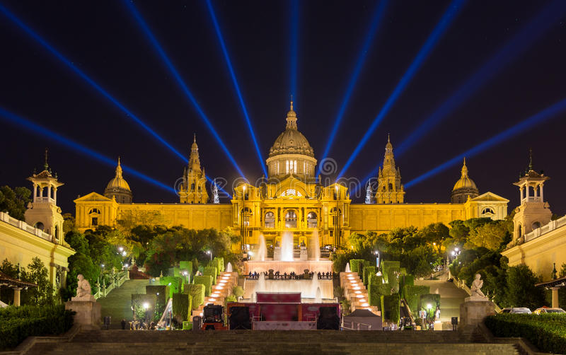 Museu Nacional d'Art de Catalunya - Barcelona, Spanien royaltyfria foton