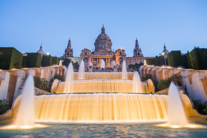 Museu Nacional da arte, Barcelona foto de stock