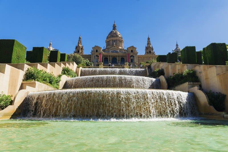 Museu Nacional de Barcelona, a plaza de Espanha, Espanha foto de stock