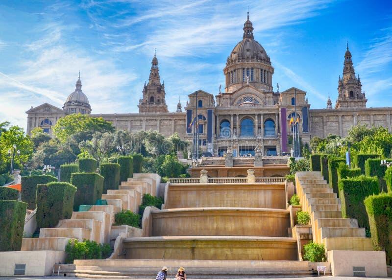 Museu Nacional de Placa de Ispania em Barcelona, Espanha fotografia de stock