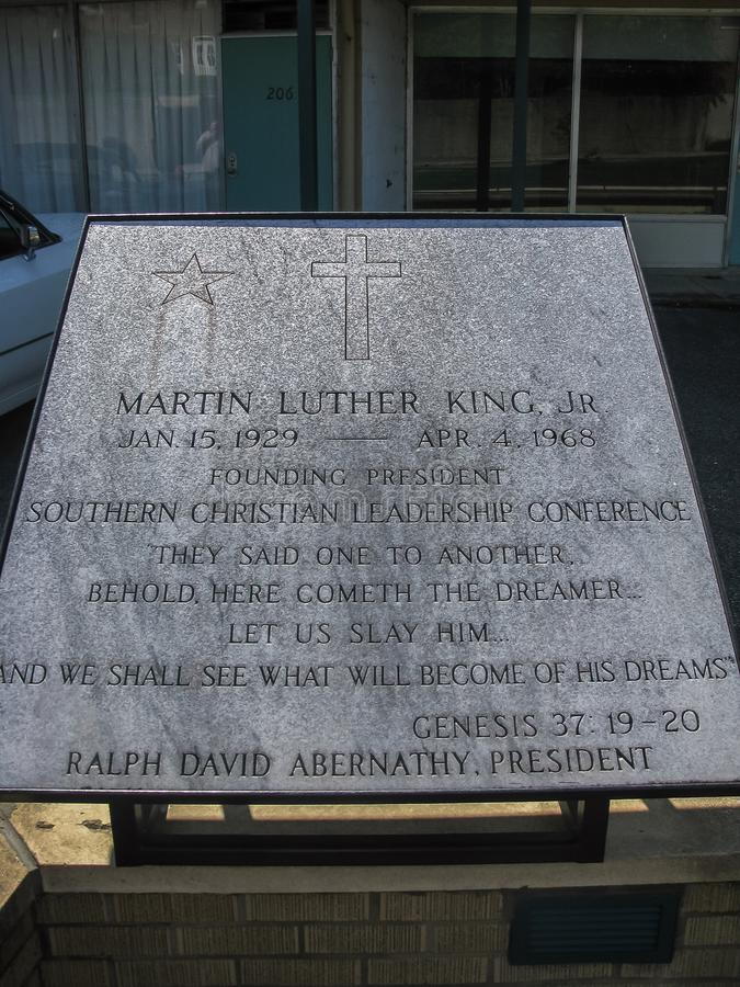 Museu nacional dos direitos civis do júnior de MLK fotografia de stock royalty free