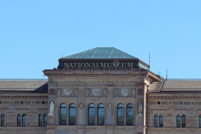 Museu Nacional em Éstocolmo em sweden no feriado fotografia de stock royalty free
