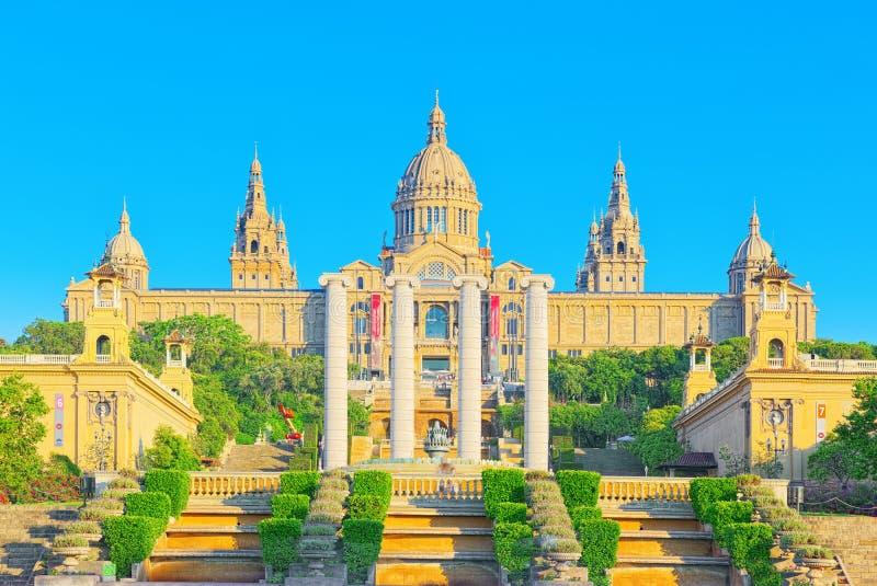 Museu Nacional em Barcelona Museu Nacional d Art de Catalunya fotografia de stock