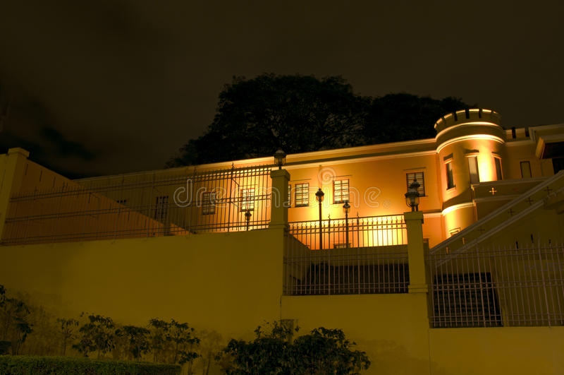 Museu Nacional na noite fotos de stock royalty free