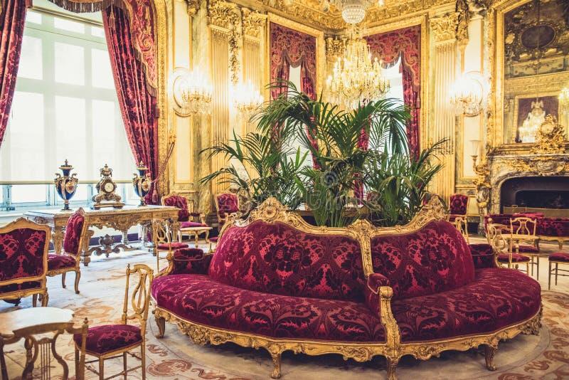 Museu Napoleon Apartments do Louvre fotos de stock