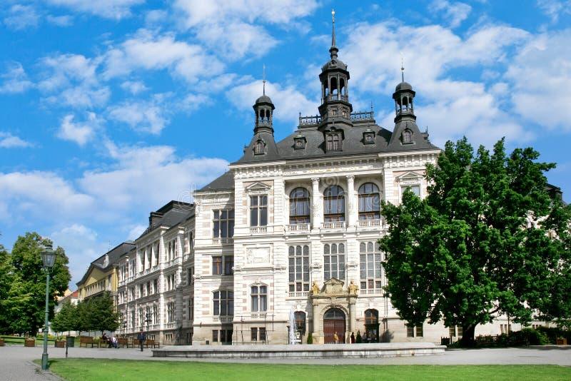 Museu ocidental de Boêmia, Plzen, república checa fotografia de stock