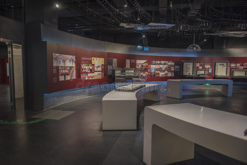 Museu olímpico da juventude de Nanjing foto de stock royalty free