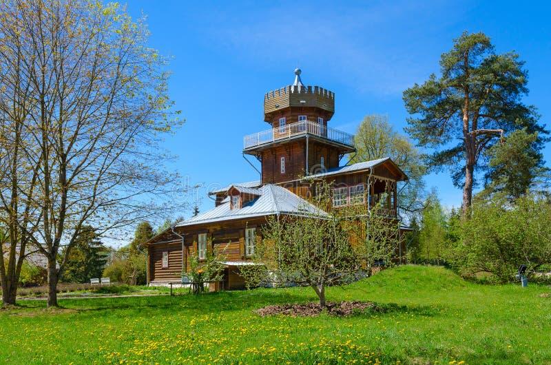 Museu-propriedade de I e Repin Zdravnevo, região de Vitebsk, Bielorrússia foto de stock