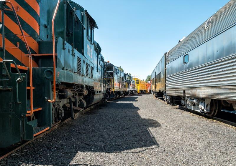 Museu Railway pacífico ocidental em Portola imagem de stock