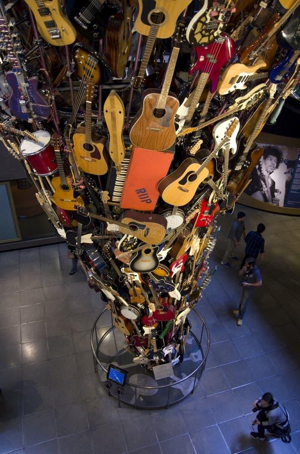 Museu Seattle do EMP da arte finala imagens de stock royalty free
