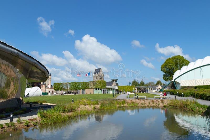 Museu transportado por via aérea em Normandy França fotografia de stock
