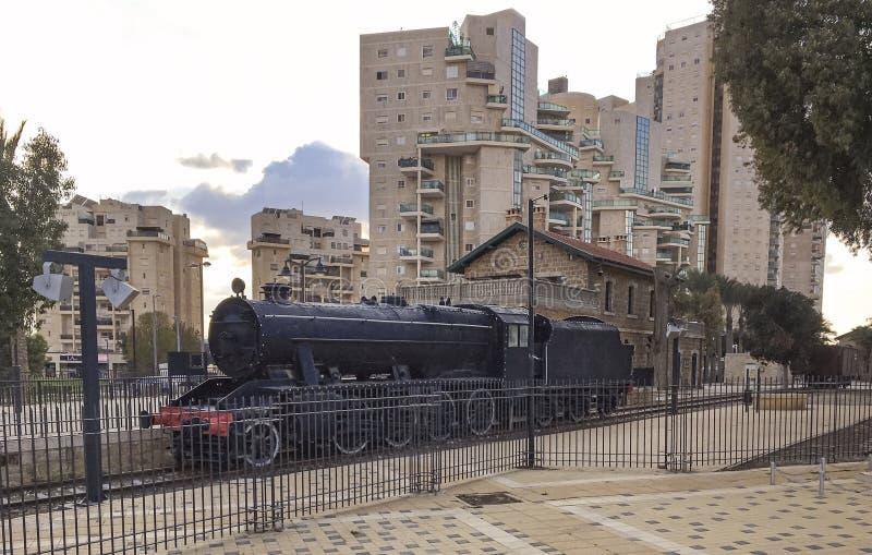 Museu turco do trem na cerveja Sheva fotos de stock
