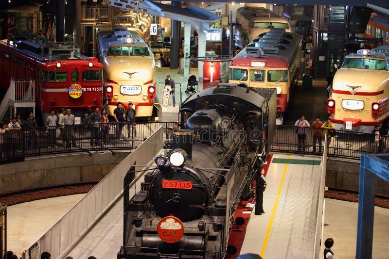 Museu velho do trem foto de stock
