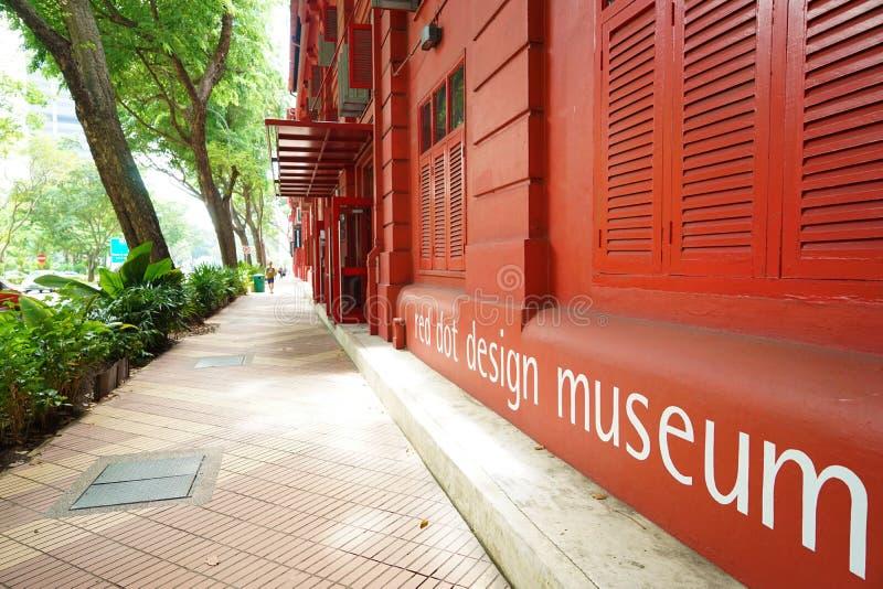 Museu vermelho do projeto do ponto de Singarpores fotos de stock royalty free
