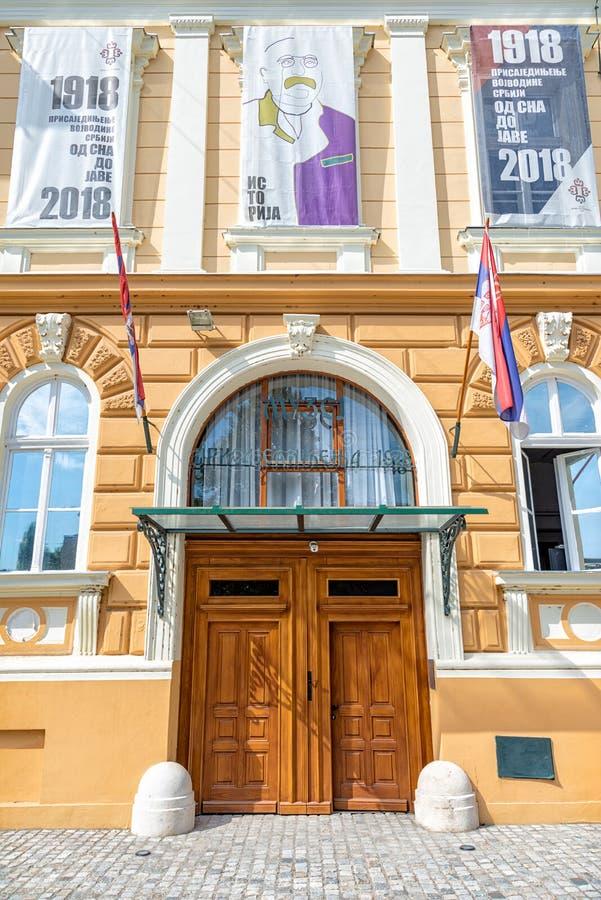 `Museum of the Annexation of Vojvodina to the Kingdom of Serbia`. Novi Sad, Serbia - September 17,2019: Building of Museum of Vojvodina at the center of the City stock photos