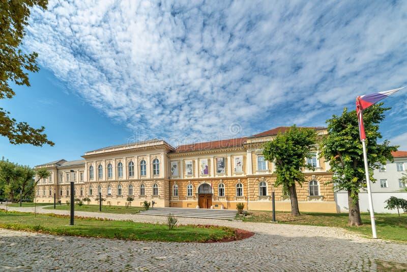 `Museum of the Annexation of Vojvodina to the Kingdom of Serbia`. Novi Sad, Serbia - September 17,2019: Building of Museum of Vojvodina at the center of the City royalty free stock photos