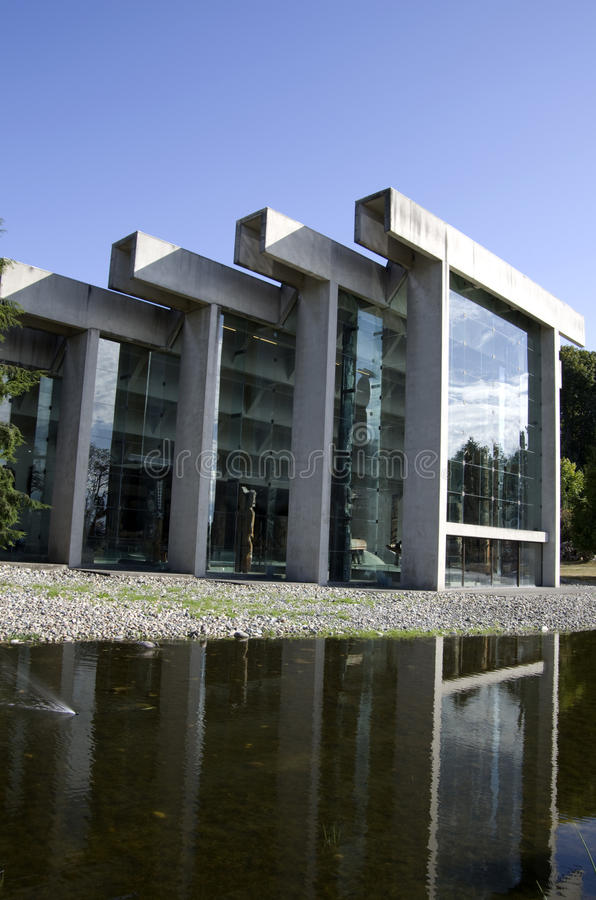 Museum of Anthropology at UBC. Has unique architectural exteriors royalty free stock images