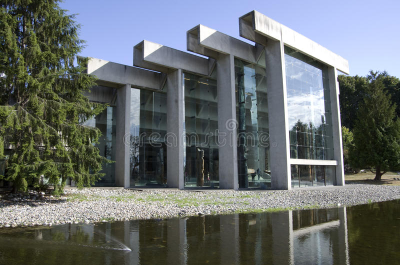 Museum of Anthropology at UBC. Has unique architectural exteriors stock images