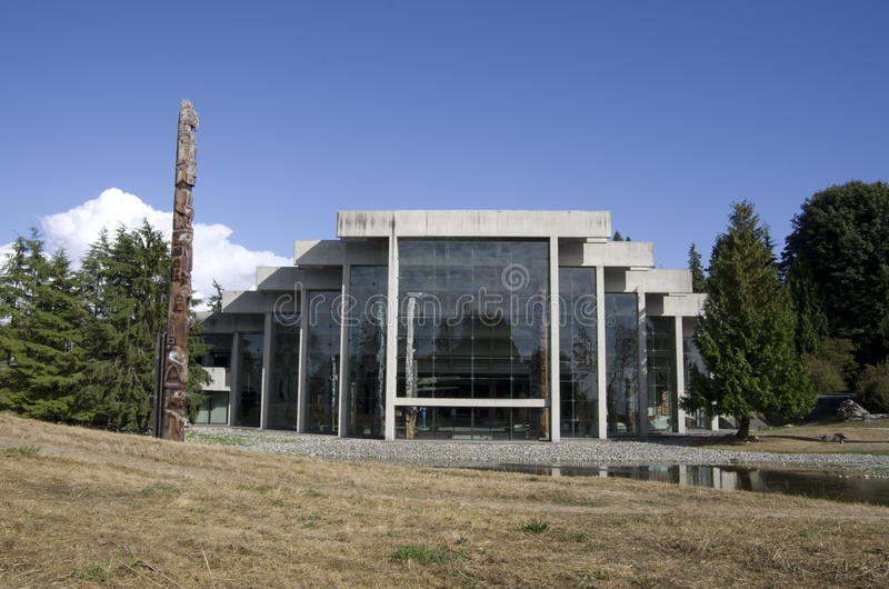 Museum of Anthropology at UBC. Has unique architectural exteriors stock image