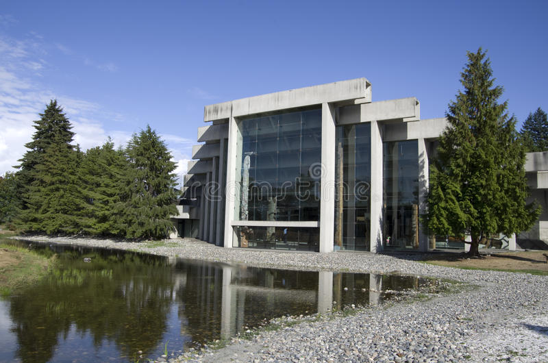 Museum of Anthropology at UBC. Has unique architectural exteriors royalty free stock photography