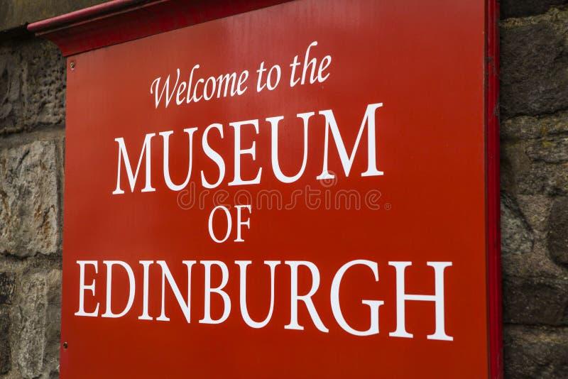 Museum av Edinburgh fotografering för bildbyråer