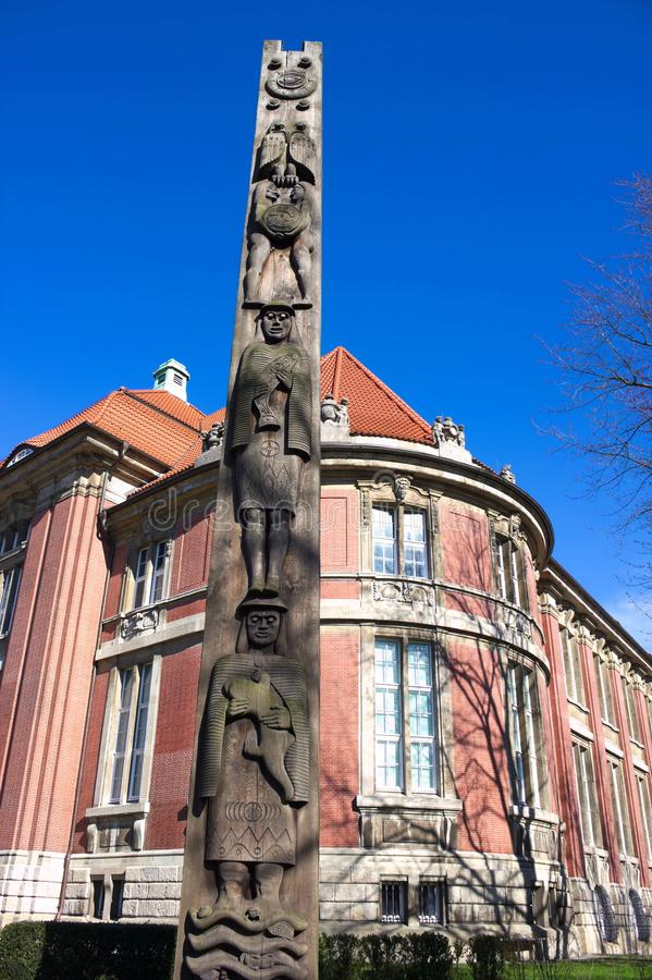 Museum av etnologi - II - Hamburg - Tyskland arkivbilder