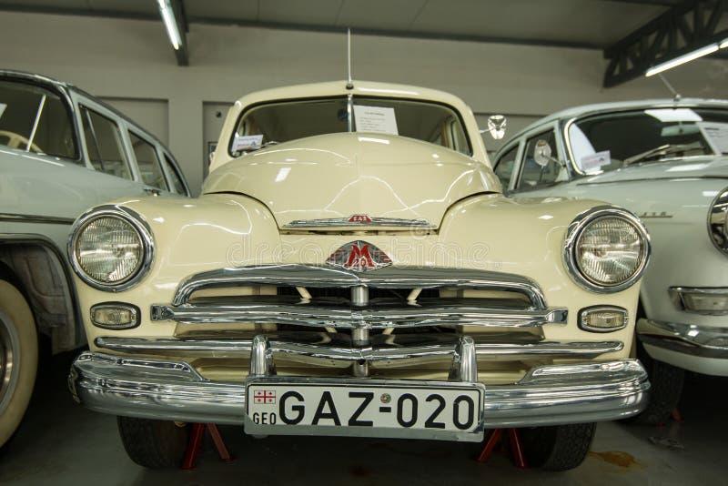 Museum av gamla sovjetiska bilar royaltyfria bilder