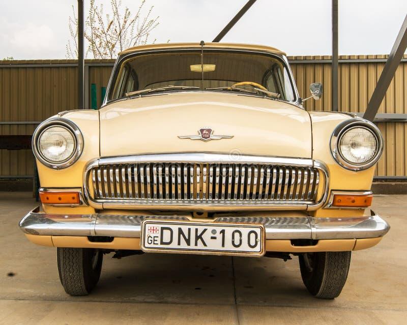 Museum av gamla sovjetiska bilar royaltyfri foto