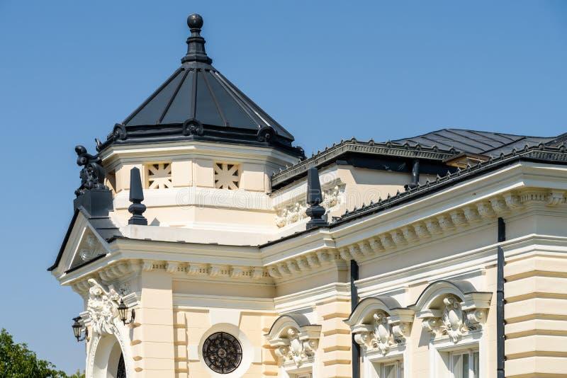 Museum av historia Teodor Cincu In Tecuci arkivbilder