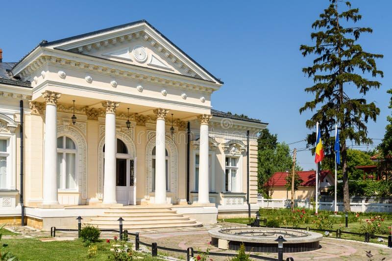 Museum av historia Teodor Cincu In Tecuci royaltyfria foton