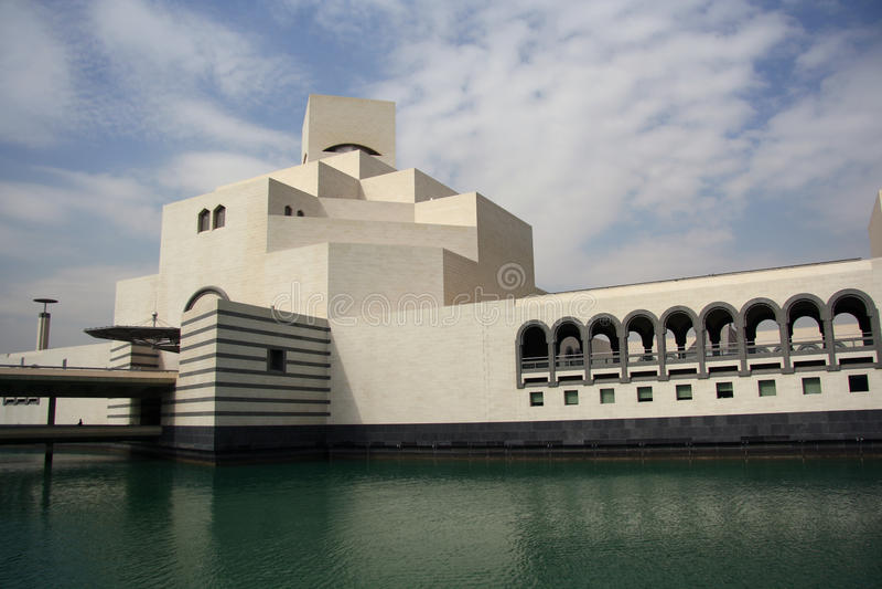 Museum av islamisk konst i Doha, Qatar arkivbilder