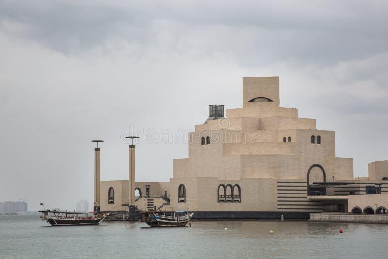 Museum av islamisk konst i Doha, Qatar royaltyfria foton