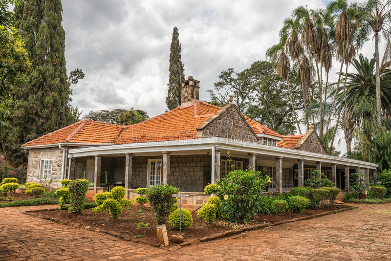 Museum av Karen Blixen i Nairobi, Kenya arkivfoto