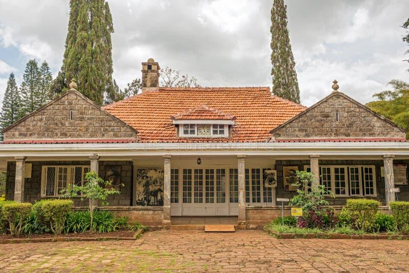 Museum av Karen Blixen i Nairobi, Kenya royaltyfri fotografi