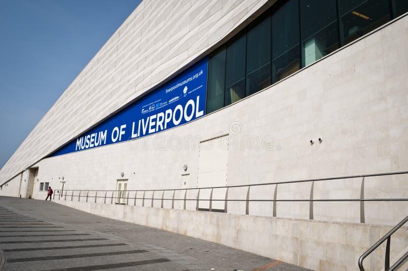 Museum av Liverpool, Pier Head, Liverpool strand, UK arkivfoton