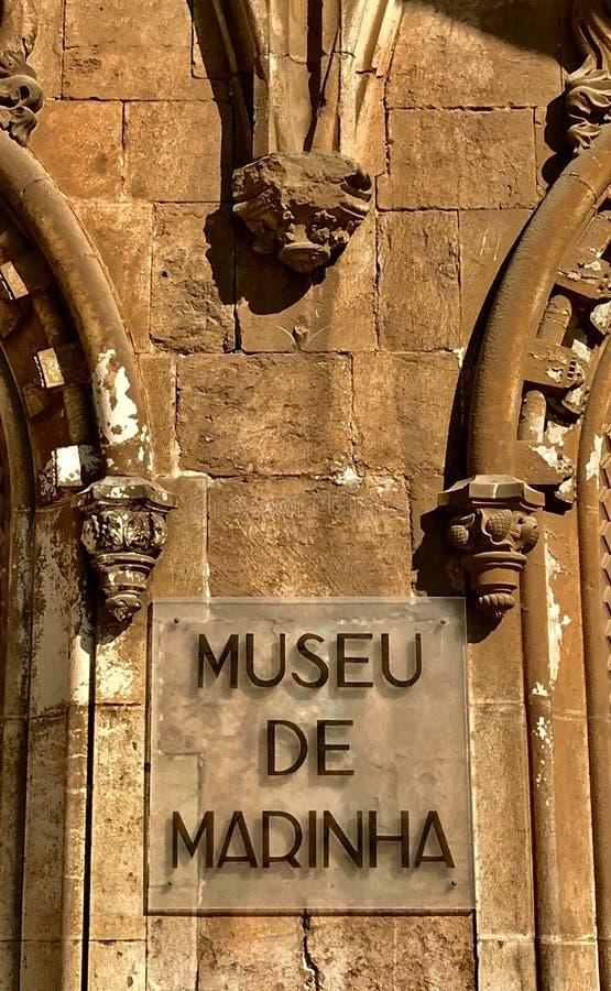 Museum av marinen i Lissabon arkivbilder