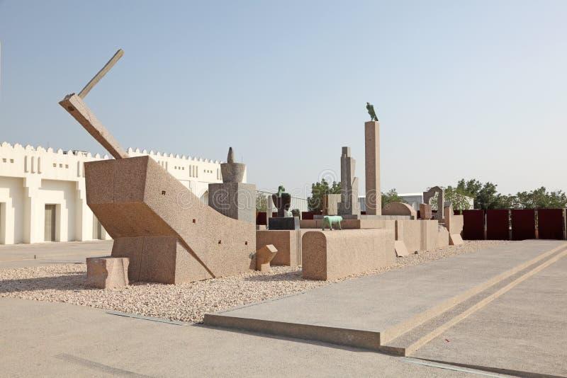Museum av modern konst i Doha fotografering för bildbyråer