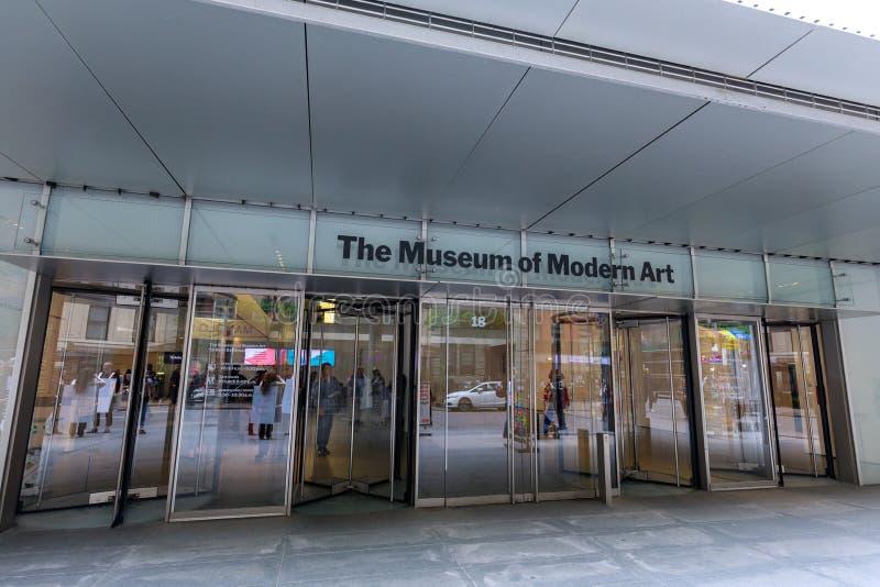 Museum av modern konst, MoMA i Manhattan, NYC fotografering för bildbyråer