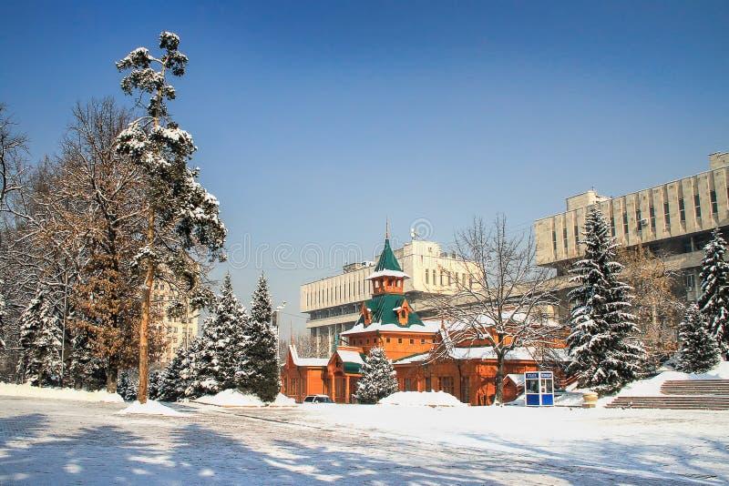 Museum av nationella musikinstrument, Almaty, Kasakhstan fotografering för bildbyråer