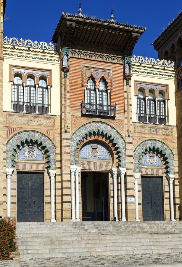 Museum av populära konster av Seville, Spanien arkivfoto