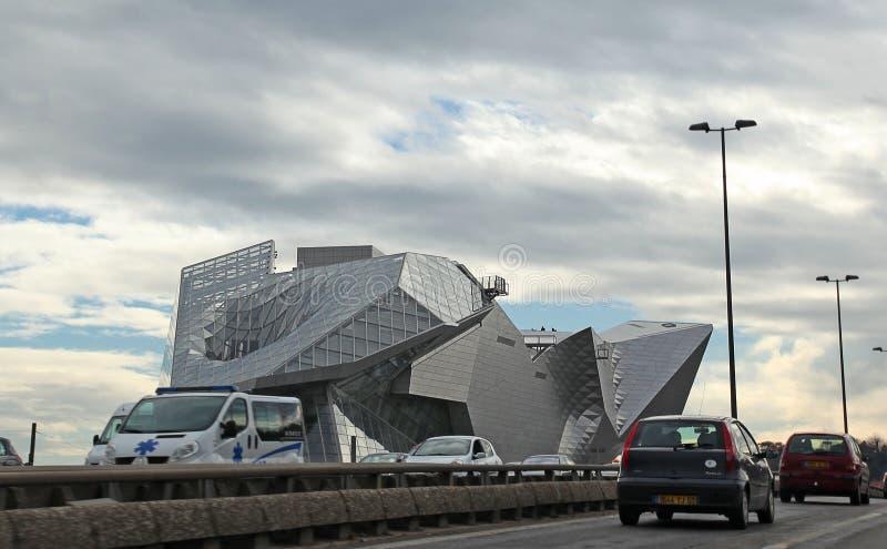 Museum av sammanflöden i Lyon royaltyfria foton