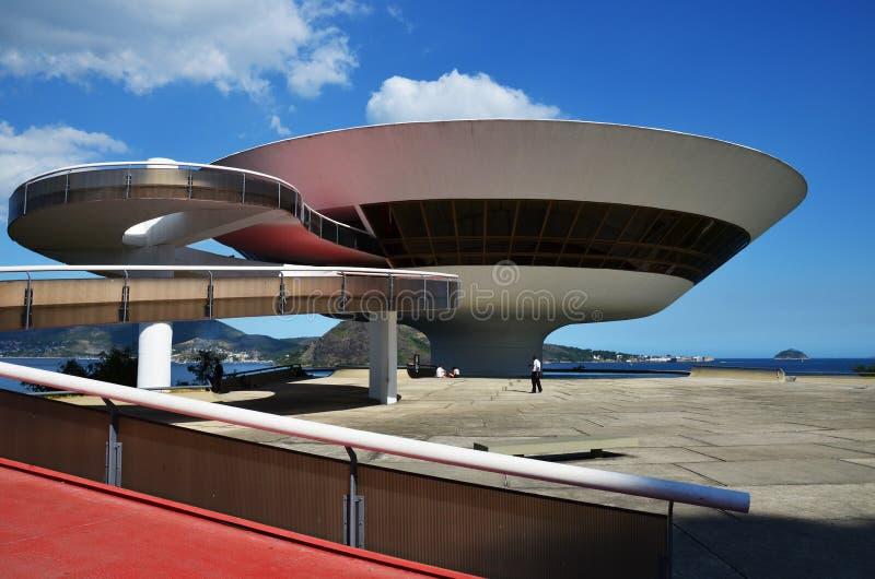 Museum av samtida konst av Oscar Niemeyer arkivfoto