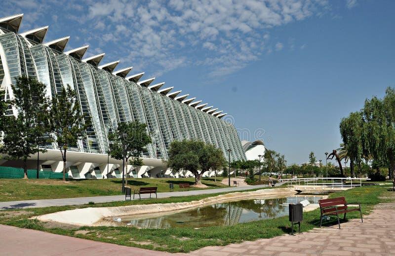 Museum av staden av konster och vetenskaper arkivfoto