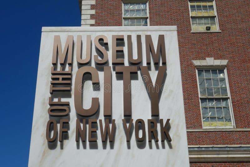 Museum av staden av New York royaltyfria foton