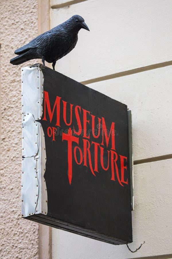 Museum av tortyr i Prague arkivfoto