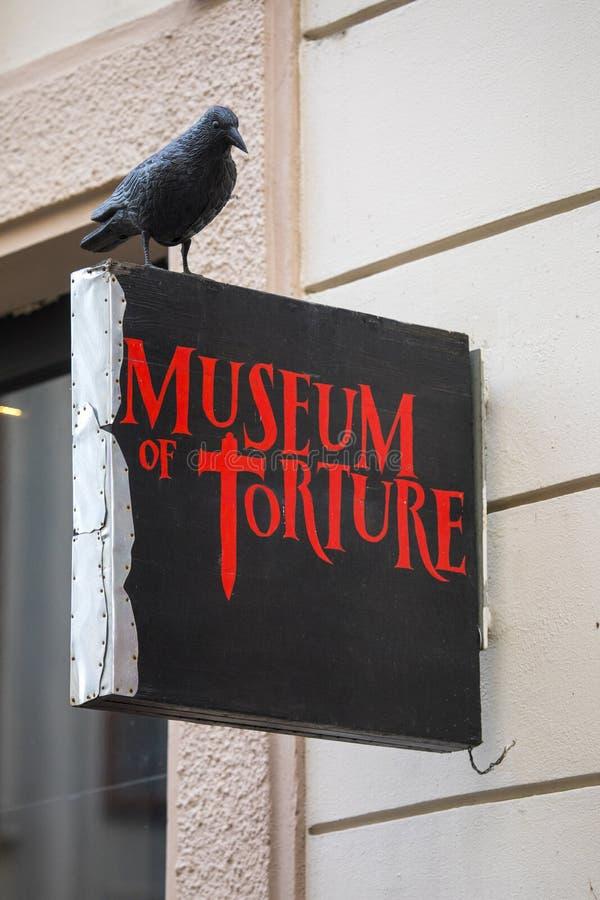 Museum av tortyr i Prague arkivbild
