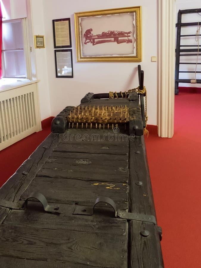 Museum av tortyr, Prague fotografering för bildbyråer