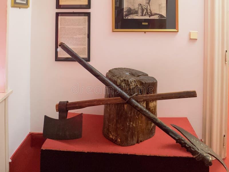 Museum av tortyr, Prague arkivbild