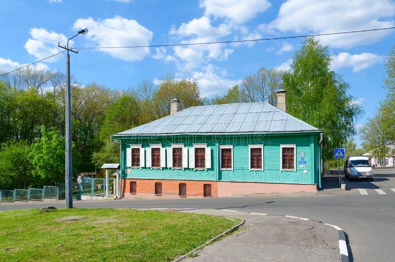 Museum av traditionella hand-väva Poozorya, Polotsk, Vitryssland arkivbild