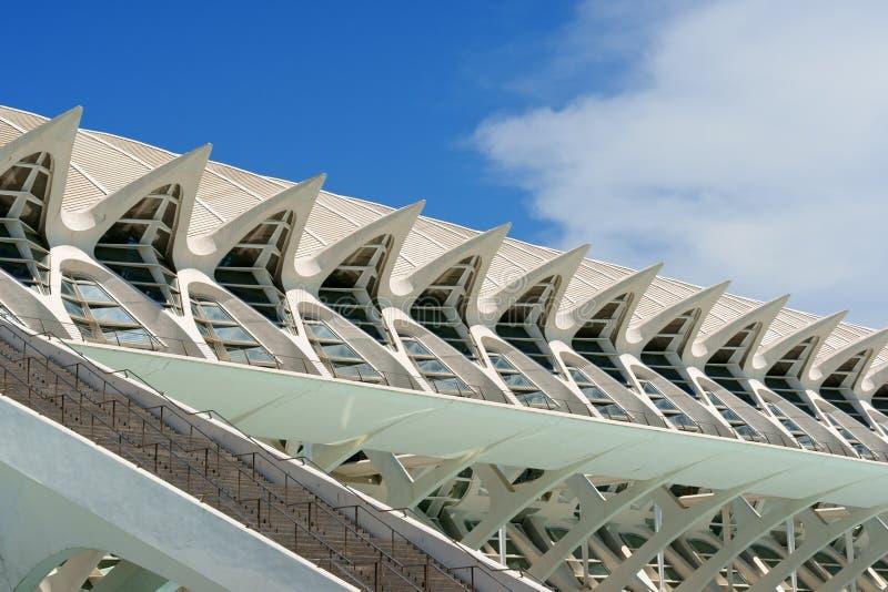 Museum av vetenskaper Principe Felipe i Valencia royaltyfri foto